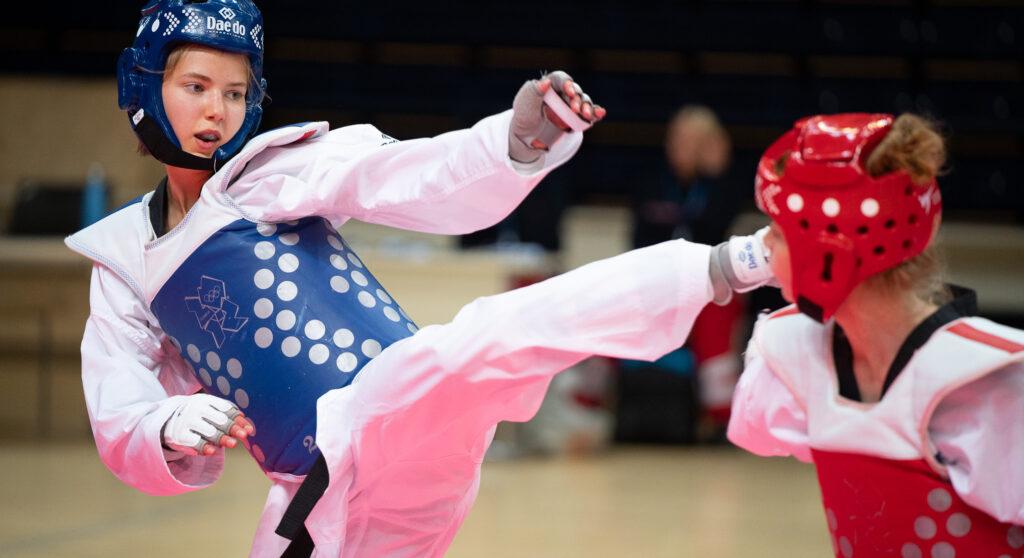Taekwondo-ottelua.